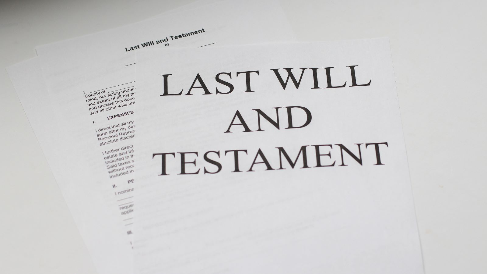 What happens if I don't make a Will?
