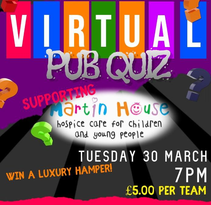 Virtual Pub Quiz in Aid of Martin House Hospice